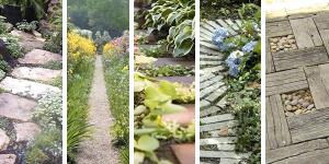 5 stilar: Trädgårdsgångar